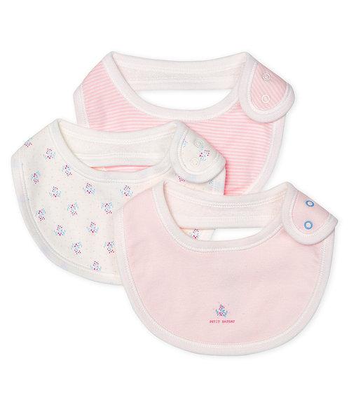 Petit Bateau 3er-Set Baby-Lätzchen