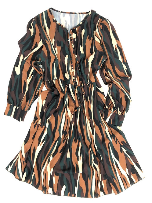 Damen Kleid Animal Print