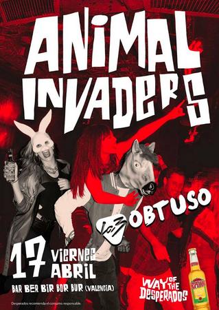 """Animal invaders"" Cerveza Desperados"