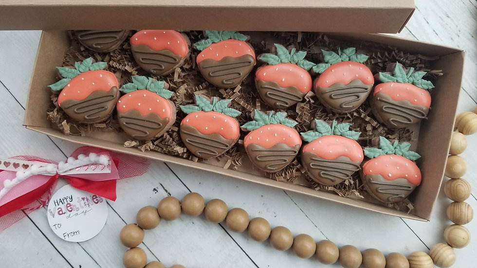 Chocolate Covered Strawberry Cookie Set