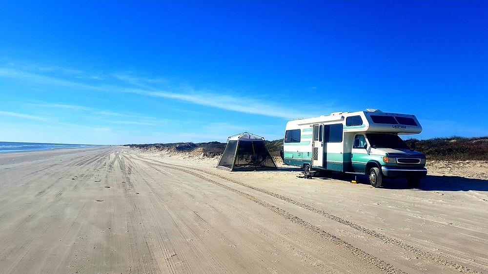 free RV beach camping
