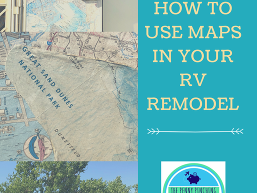 How to Use Maps to Decorate Your RV