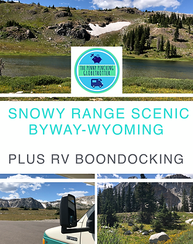 Boondocking on Snowy Range Scenic byway.