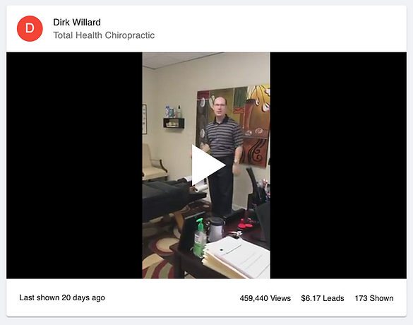 Video of Dr. Dirk Willar giving his son who plays football a chiropractic adjustment while explaining the process