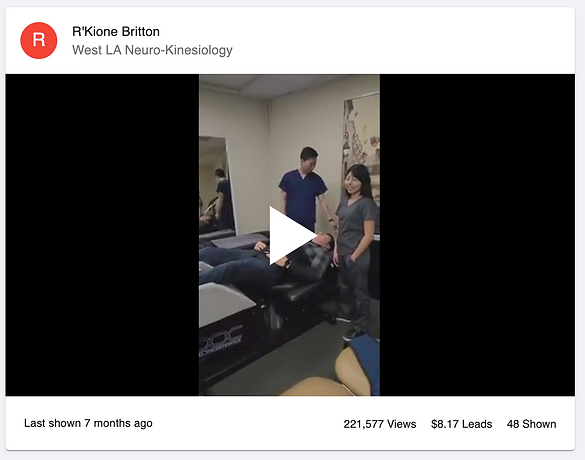Dr. R'Kione Britton's video of his team walking through what spinal decompression is and advertising a special offer for new patients