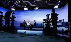 TV studio curved backdrop