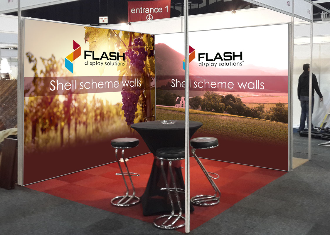 Flash expo stand walls