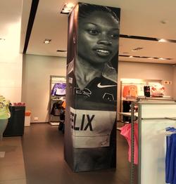 Retail pillar wrap