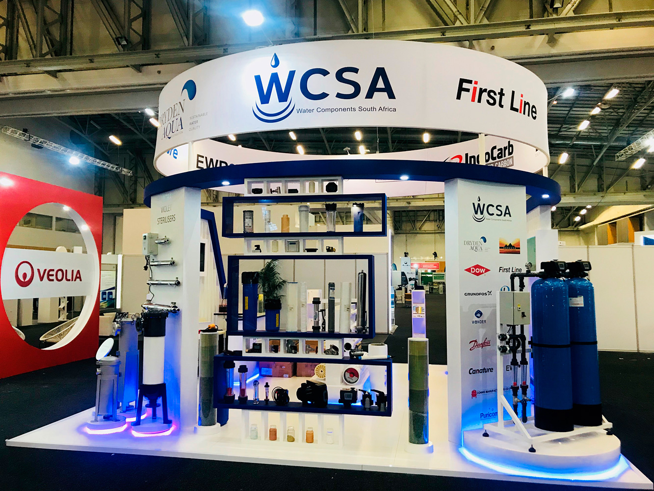 WCSA Curve Expo-stand bulkhead