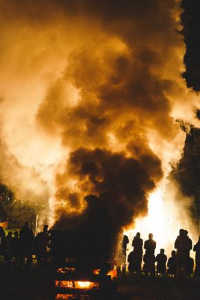 Huge fires