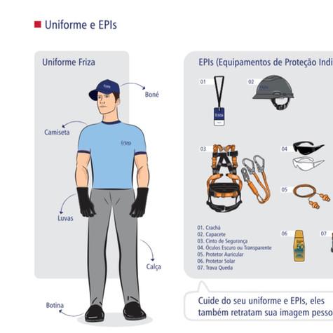 Uso de Uniforme e EPIs Friza