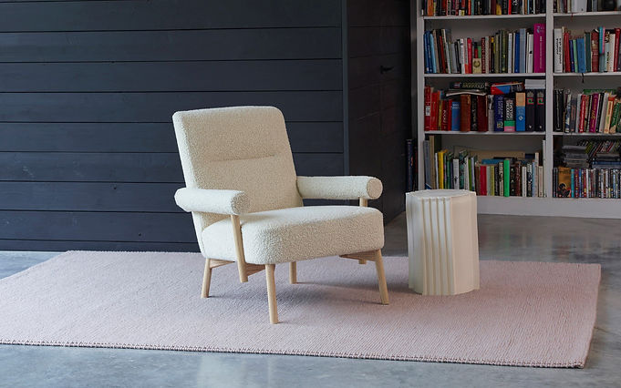 Bute Fabrics_Storr in Eggshell on Matthew Hilton SCP Colemore Chair