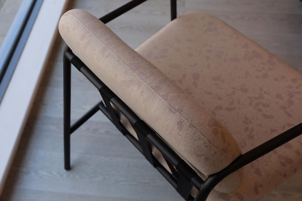 Bute Fabrics_Mineral in Mica on Deadgood Working Girl Chair