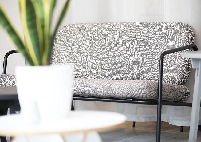 Bute Fabrics_Deadgood Sofa upholstered in Kin Fabric