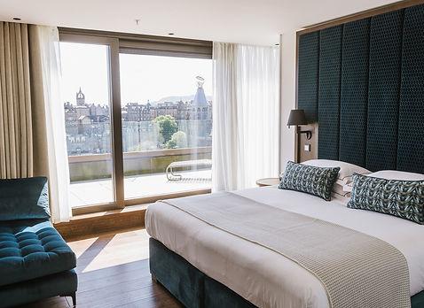 Bute Fabrics_Hospitality Project_The Edinburgh Grand_Double Room View