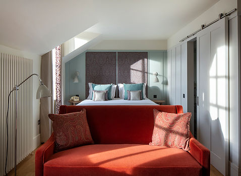 Bute Fabrics_Hospitality Project_Abbey Strand Apartments_Double Room Interior