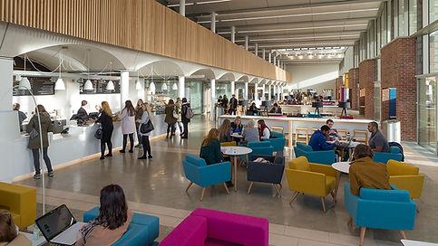 Bute Fabrics_Hospitality Project_The Pavilion Nottingham Trent University_Interior Cafe