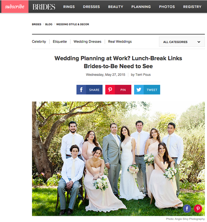 Feature: Brides.com!