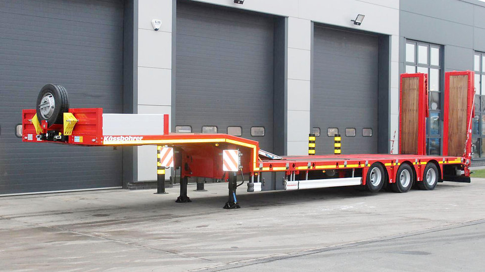 Kassbohrer Tri Axle Extendable Rear Steer Low Loader Trailer (New / Unused)
