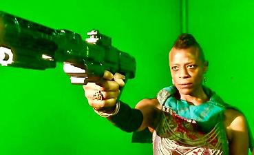 Aixa Kendrick on set at IronBound Studio