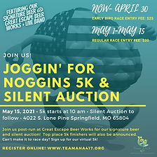 Joggin' for Noggins 5k Run_walk & Silent