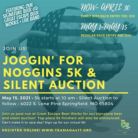 Joggin' for Noggins 5k Run_walk & Silent