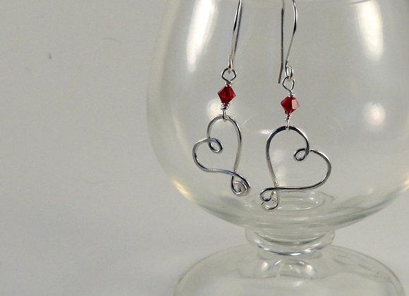 PMJ Signature Heart Earrings