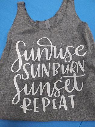 Sunrise, Sunburn, Sunset, Repeat Tank Top