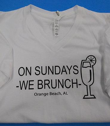 On Sundays We Brunch T-shirt