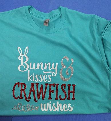 Bunny Kisses & Crawfish Wishes T-shirt