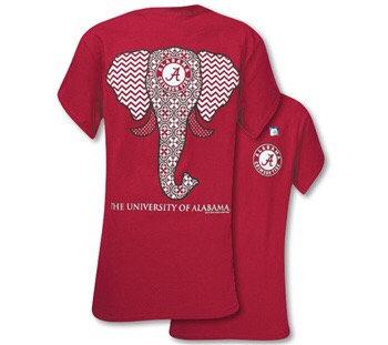 Southern Couture Classic Alabama Elephant - Cardinal Red