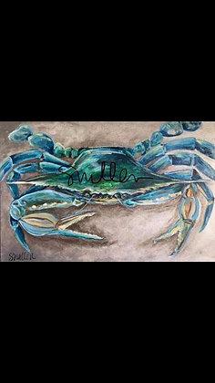 Blue Crab print by artist Shannon Mullen 17x22