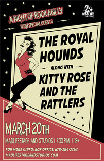 Rockabilly - The Royal Hounds | Kitty Rose and the Rattlers Poster