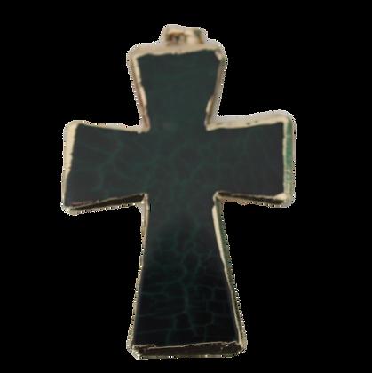 Green and Black Dragons Veins Cross