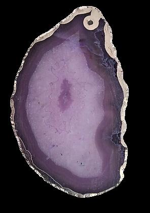 Shades of Purple Agate Pendant