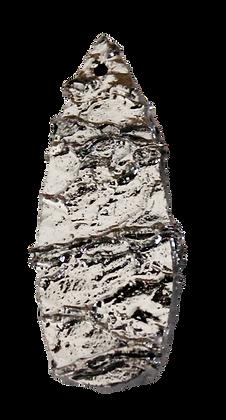 Silver Teardrop Druzy Pendant