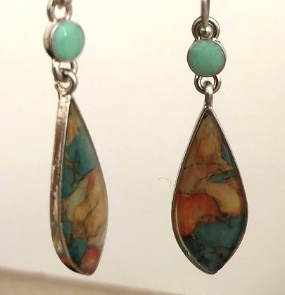Abstract Designed Drop Earrings