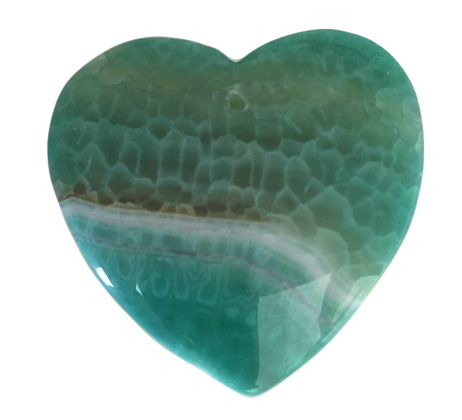 Green Dragon Veins Heart Pendant