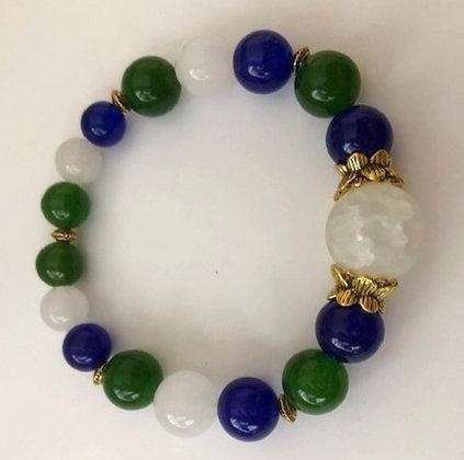 Agate Statement Stretch Bracelet