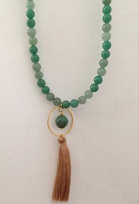 Green Jade Gemstone Beaded Necklace