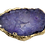 Thumbnail: Purple Round Druzy Connector Pendant