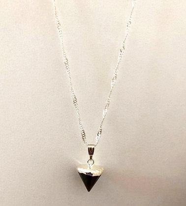 Labradorite Arrow Cone Pendant Necklace