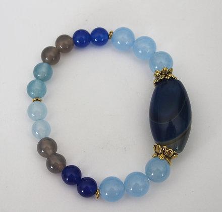 Blues Beaded Focal Bracelet