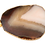 Thumbnail: Round Brown and Beige Agate Slice Pendant