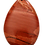 Thumbnail: Rust Red Teardrop Agate Pendant