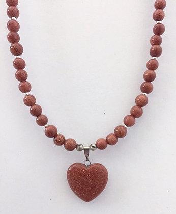 Gorgeous Goldsand Beaded Necklace