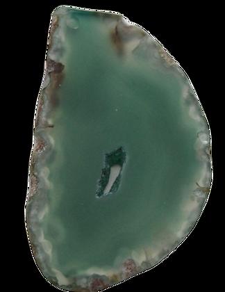 Green Agate Slice Pendant