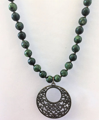 Pretty Green Chrysocolla Beaded Necklace