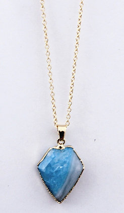 Chain Necklace with Teal Pendant
