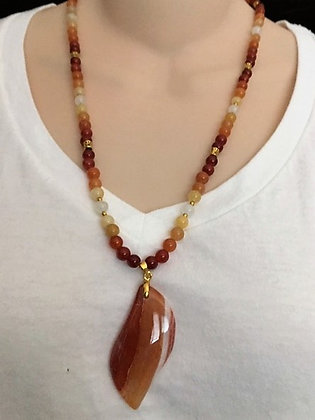 Orange & Red Carnelian Necklace